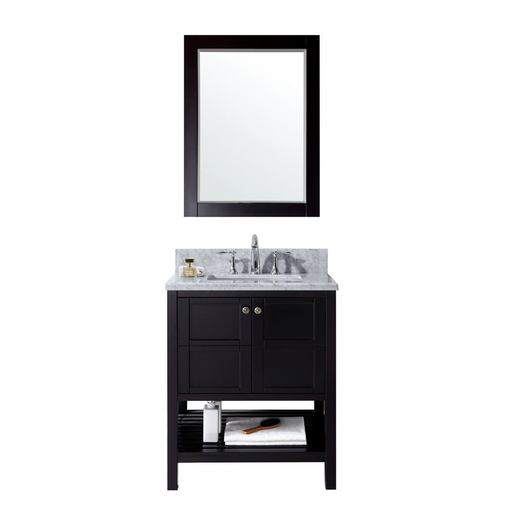Virtu USA Winterfell 30 in. Vanity in Espresso with Marbl...