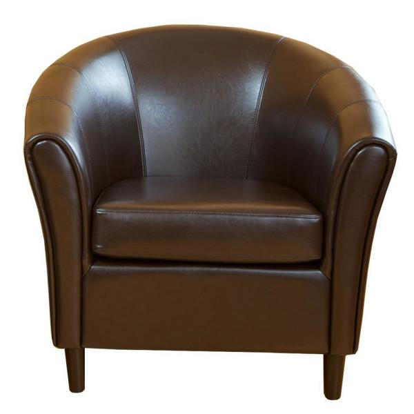 Napoli Chocolate Brown Bonded Leather Club Chair