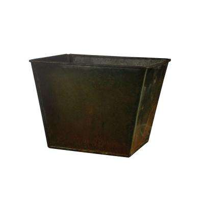 5-3/8 in. Tapered Square Metal Pot