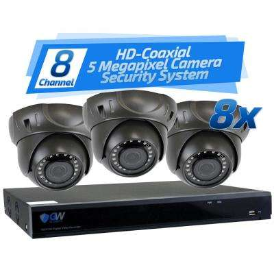 8-Channel HD-Coaxial 5MP System Bundle with 8 x GW537HD and 2 TB HDD