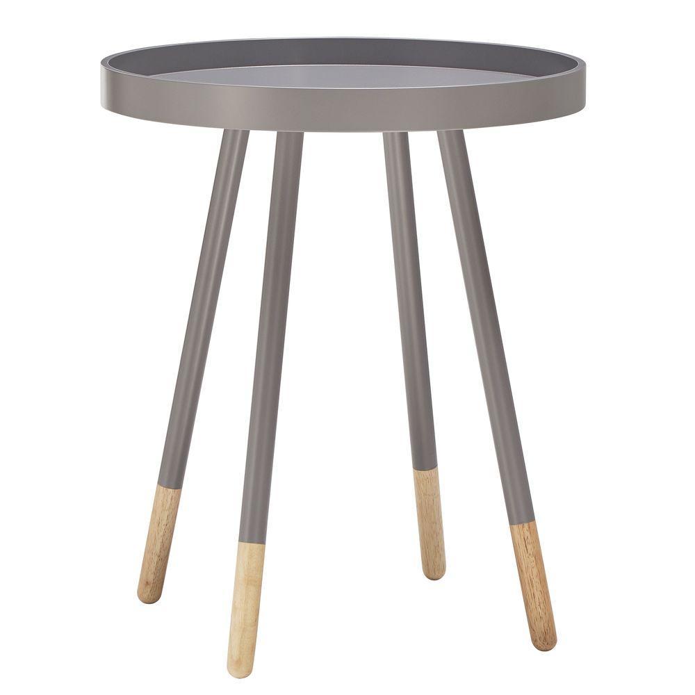 HomeSullivan Hanna Grey Tray Side Table 40701-04GA