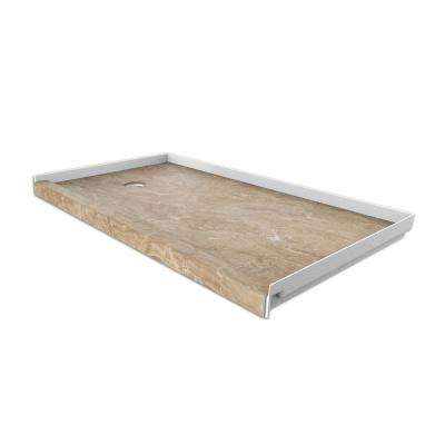 30 in. x 60 in. Single Threshold Shower Base with Left Hand Drain in Alaskan Ivory