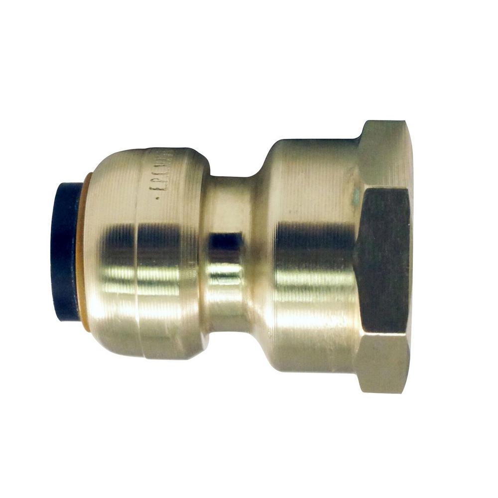 Tectite in brass push to connect female pipe thread
