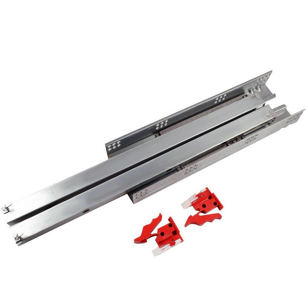 Full extension drawer slides bottom mount multi coloured glass splashbacks