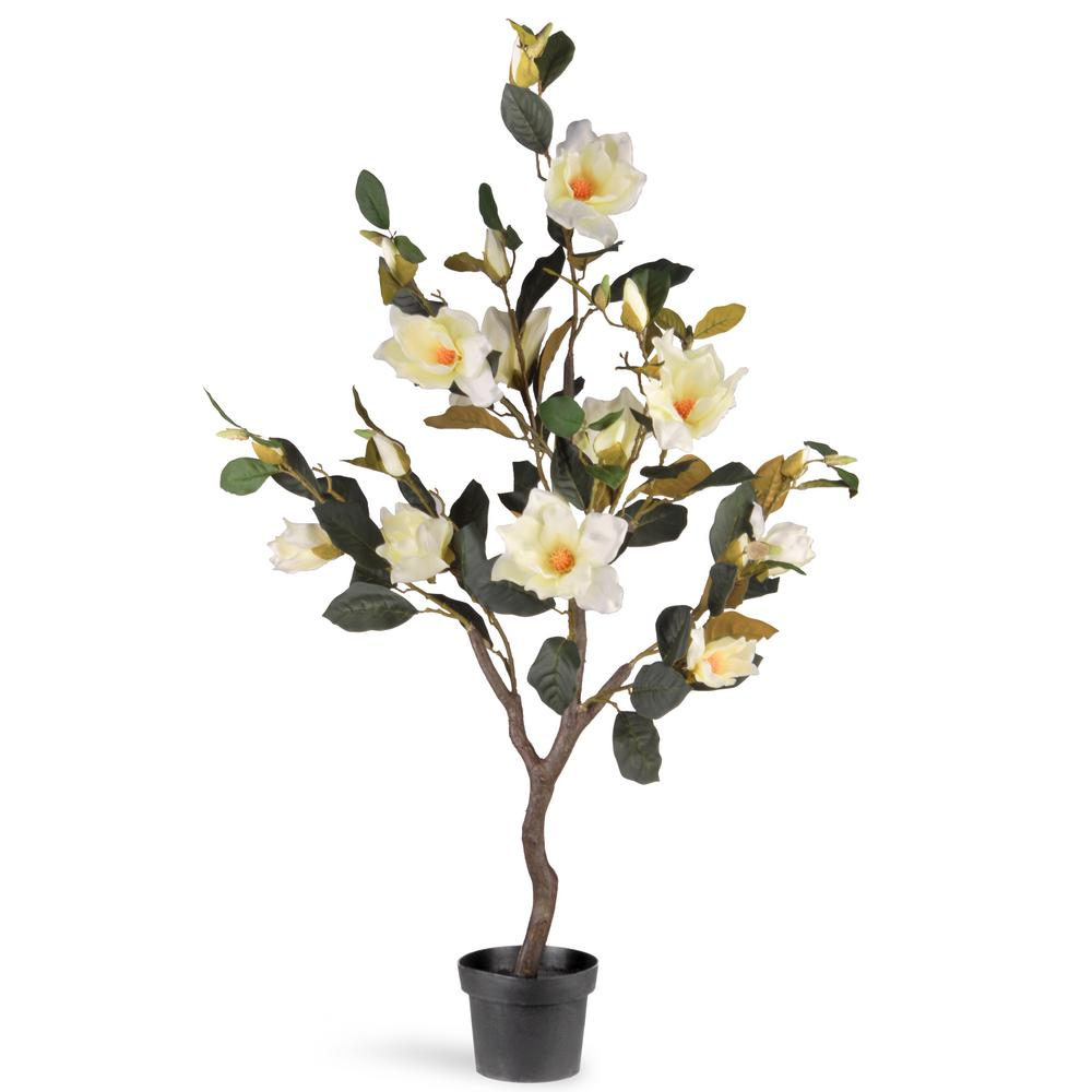 Artificial White Flower Display 48 Inch Indoor Outdoor Plant Home