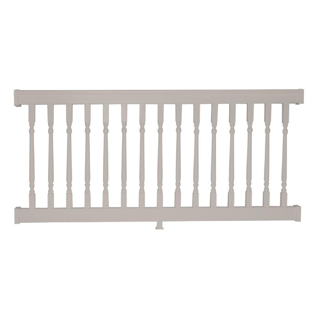 Delray 36 in. x 96 in. Vinyl Tan Colonial Straight Railing