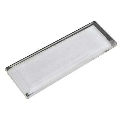3 in. (76.2 mm) Transparent and Clear Self Adhesive Cabinet Pull