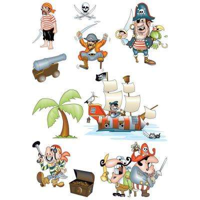 25.5 in. x 33.5 in. Pirates Wall Decal