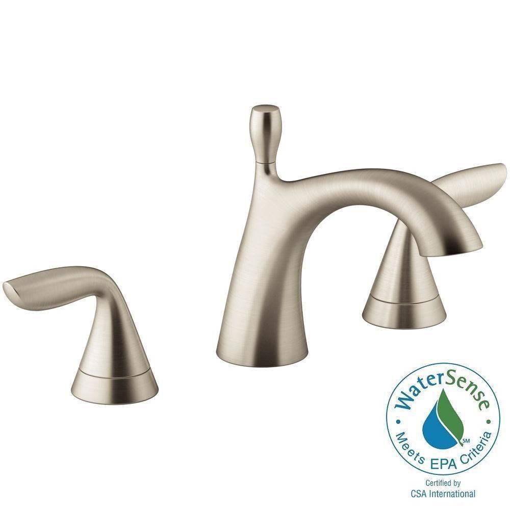 KOHLER Willamette 8 In. Widespread 2 Handle Water Saving Bathroom Faucet In  Vibrant