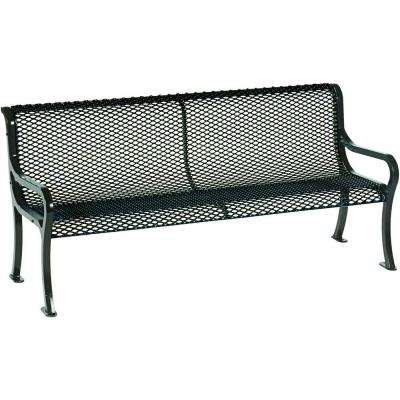Symphony 6 ft. Black Commercial Bench