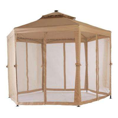 10 ft. x 10 ft. Solar LED Lighted Gazebo
