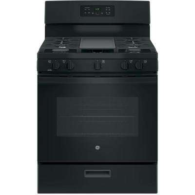 30 in. 5.0 cu. ft. Free-Standing Gas Range in Black