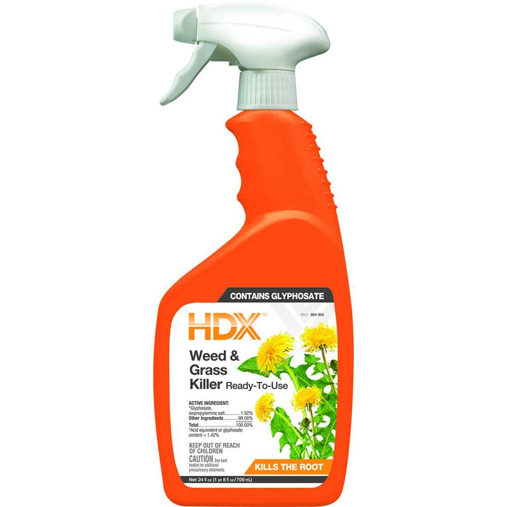 HDX 24 oz. Ready-to-Use Weed and Grass Killer