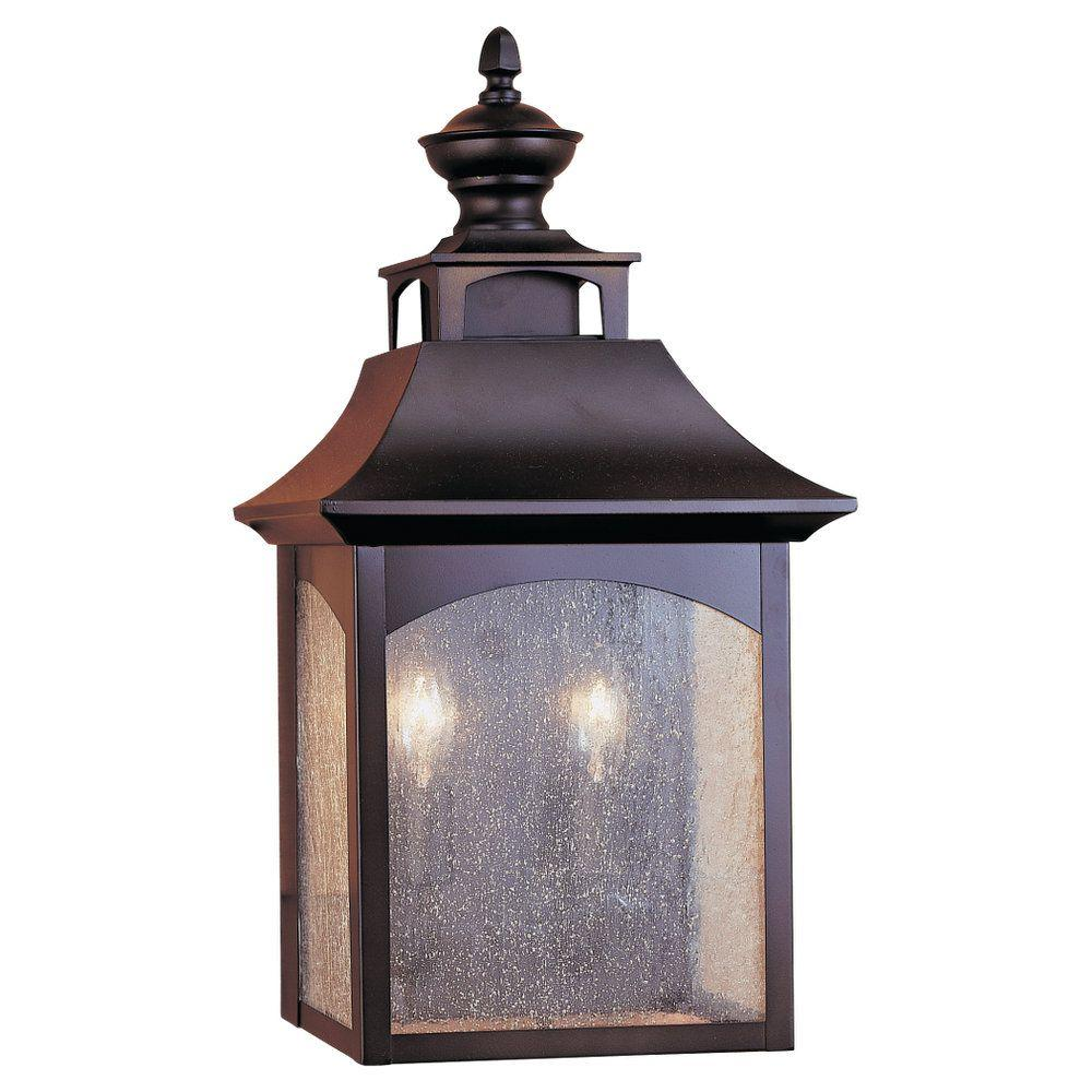Feiss Homestead 2-Light Oil-Rubbed Bronze Outdoor Wall Lantern