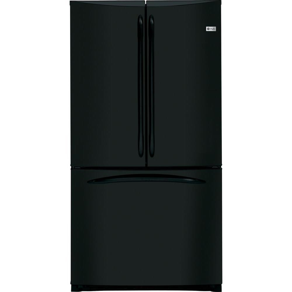 GE Profile 20.7 cu. ft. French Door Refrigerator in Black, Counter Depth