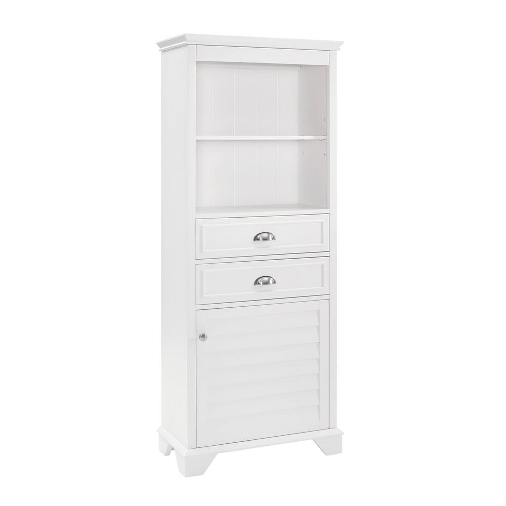 Lydia 23.5 in. W x 11.63 in. D x 60.13 in. H Linen Cabinet in White