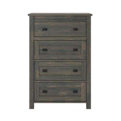 Brownwood 4-Drawer Weathered Oak  Dresser