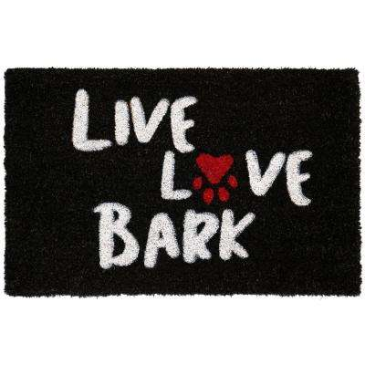 Comfy Pooch Live Love Bark 18 in. x 28 in. Coir Mat
