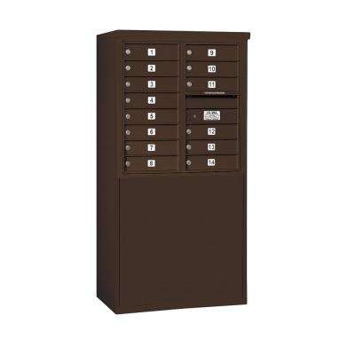 3900 Horizontal Series 14-Compartment Free Standing Mailbox