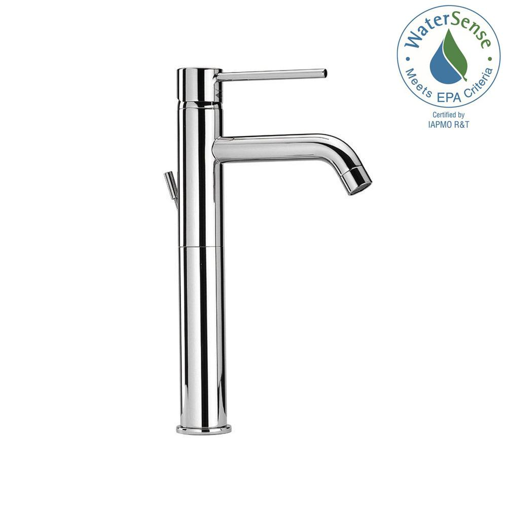 LaToscana Elba Single Hole Single-Handle High-Arc Vessel Bathroom Faucet in Chrome