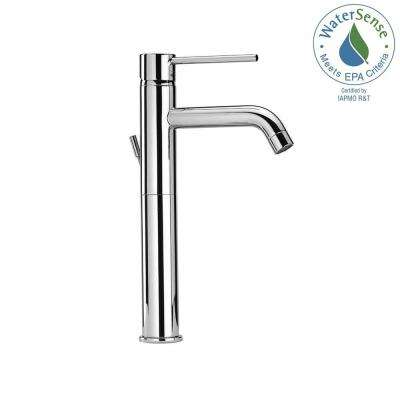 Elba Single Hole Single-Handle High-Arc Vessel Bathroom Faucet in Chrome