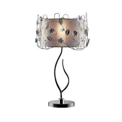 34 in. Silver Crystal Table Lamp