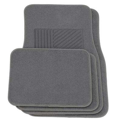 4-Piece Gray Heavy-Duty 27 in. x  17.5 in. Floor Mats