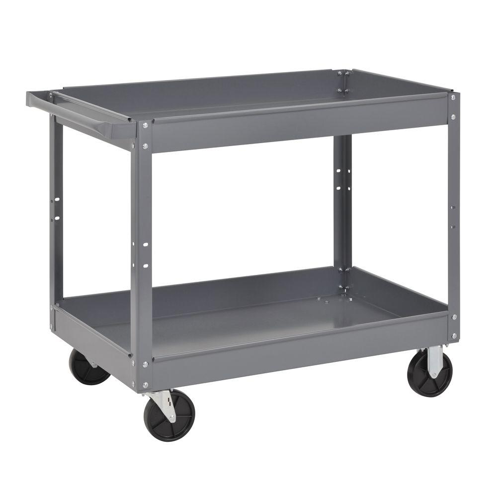 Edsal 24 in utility cart gray sc2024 the home depot utility cart gray geotapseo Gallery