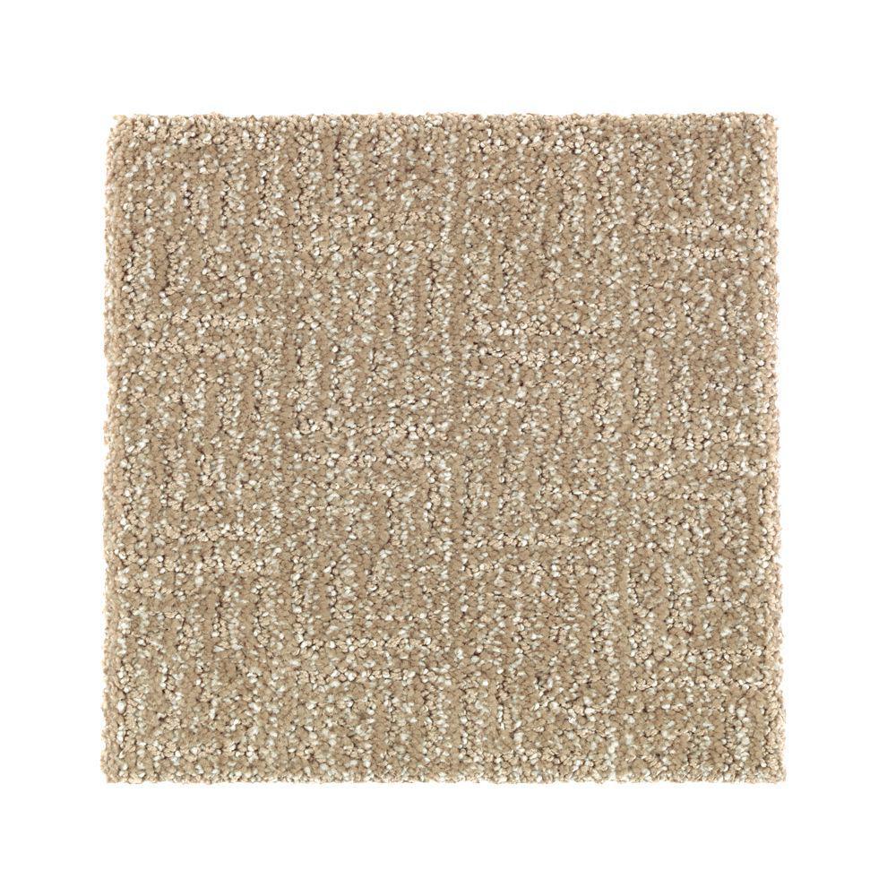 Carpet Sample - Scarlet - Color Desert Trail Pattern 8 in. x 8 in.