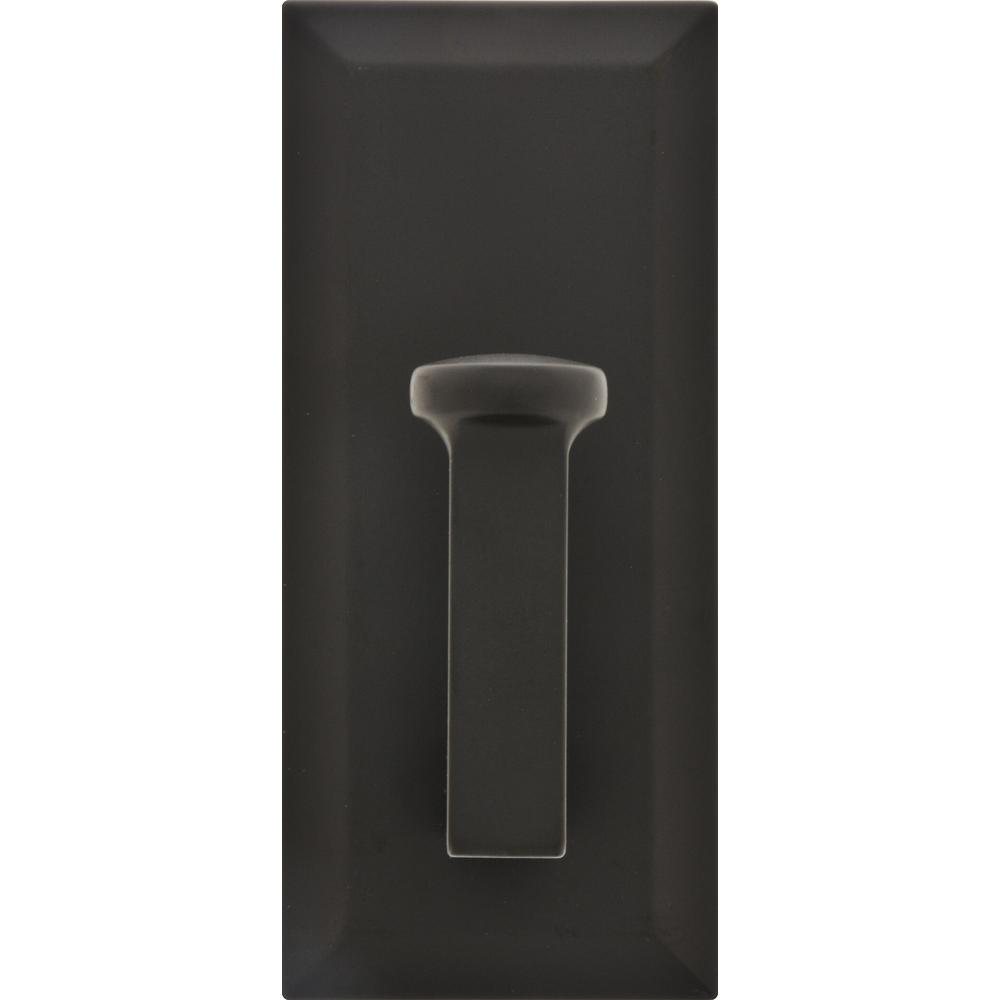 Decorative Rectangle Hook Metal in Oil Rubbed Bronze (25lb. -Pack)