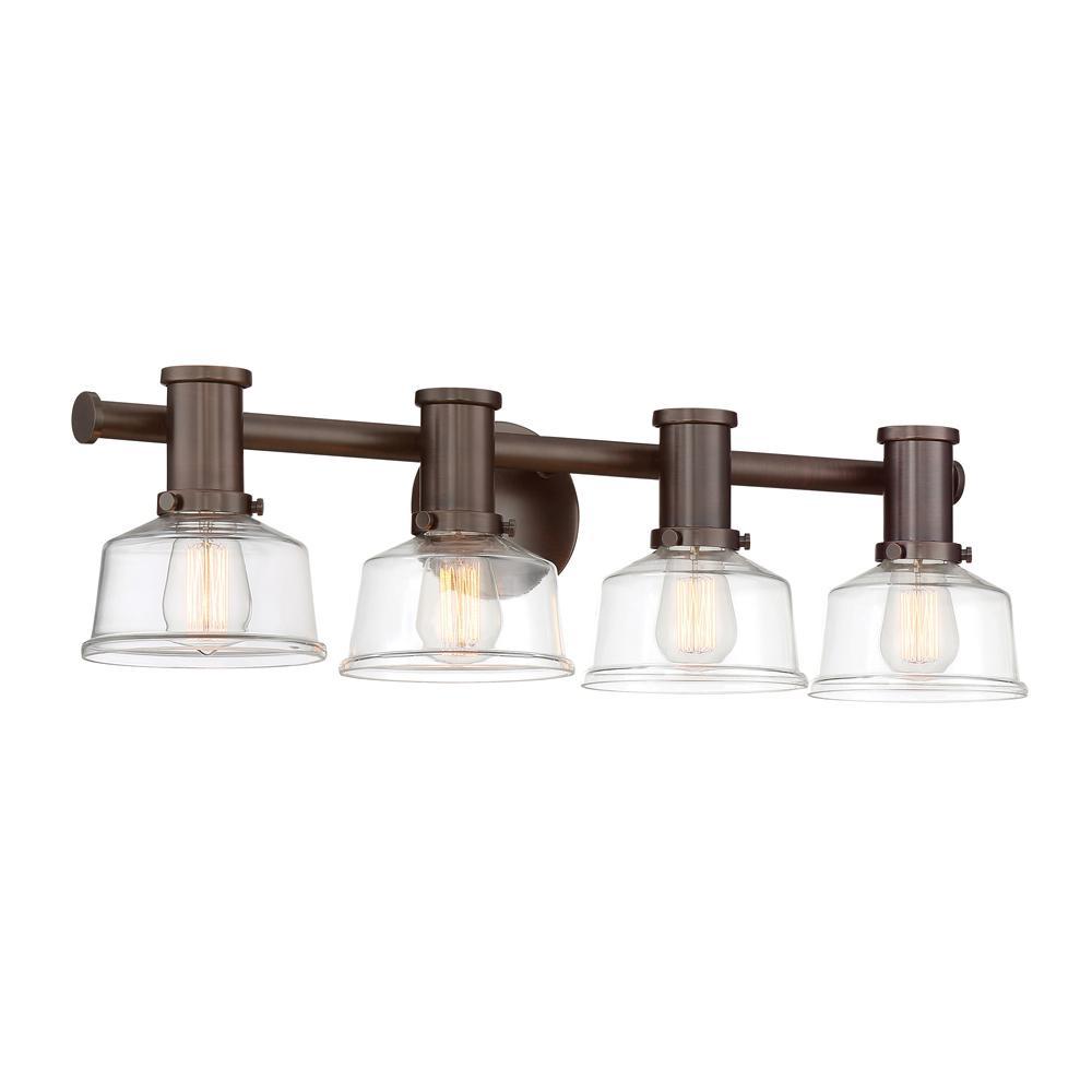 Carson 4-Light Satin Copper Bronze Bath Bar Vanity Light