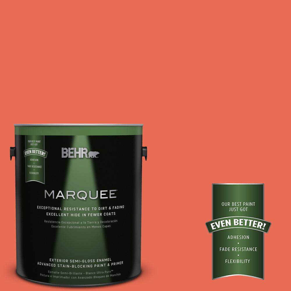 BEHR MARQUEE 1-gal. #190B-6 Wet Coral Semi-Gloss Enamel Exterior Paint