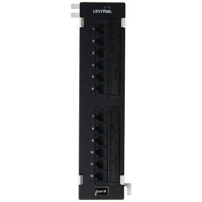 12-Port eXtreme Cat 6+ 110-Style Universal Patch Block, Black