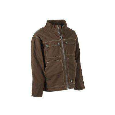 Men's Small Bark Cotton and Polyester Heathered Modern Chore Coat