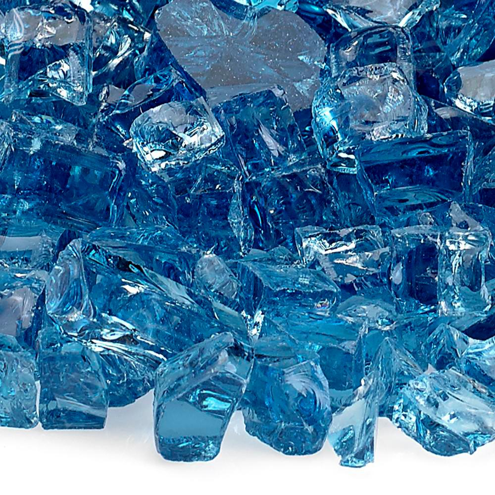 American Fire Glass 1/2 in. Pacific Blue Fire Glass 10 lbs. Bag