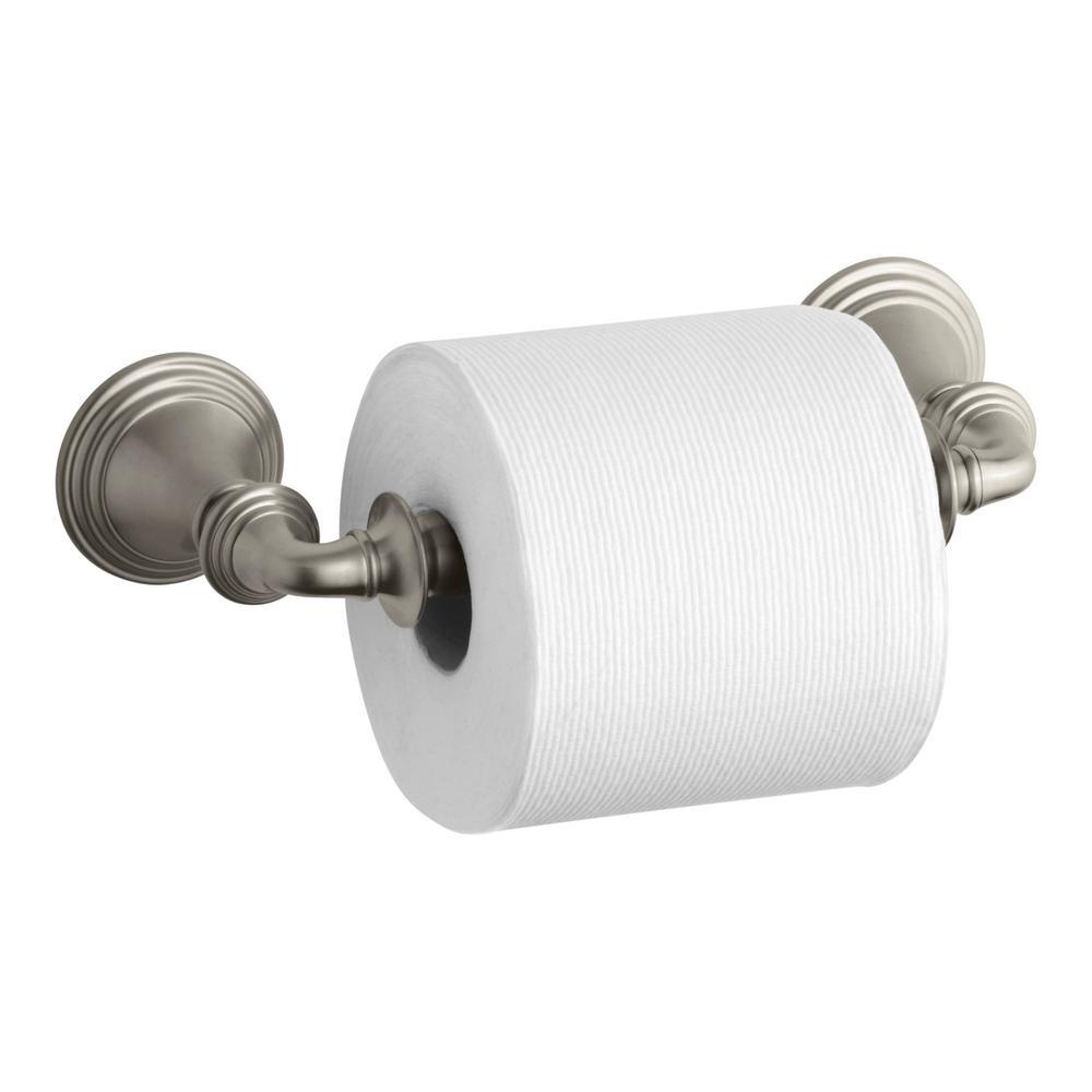 Kohler Devonshire Double Post Toilet Paper Holder in Vibrant Brushed Nickel by KOHLER