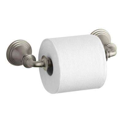 Devonshire Double Post Toilet Paper Holder in Vibrant Brushed Nickel