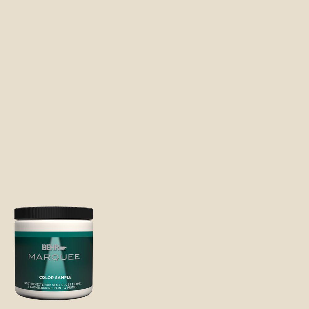 Behr Premium Plus Ultra 8 Oz Ppu7 15 Ivory Lace Interior Exterior Satin Enamel Paint Sample