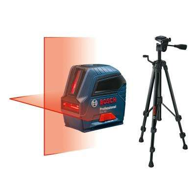 50 ft. Self-Leveling Cross-Line Laser Level with Free Compact Tripod with Extendable Height