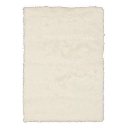 Faux Sheepskin White 5 Ft X 8 Area Rug