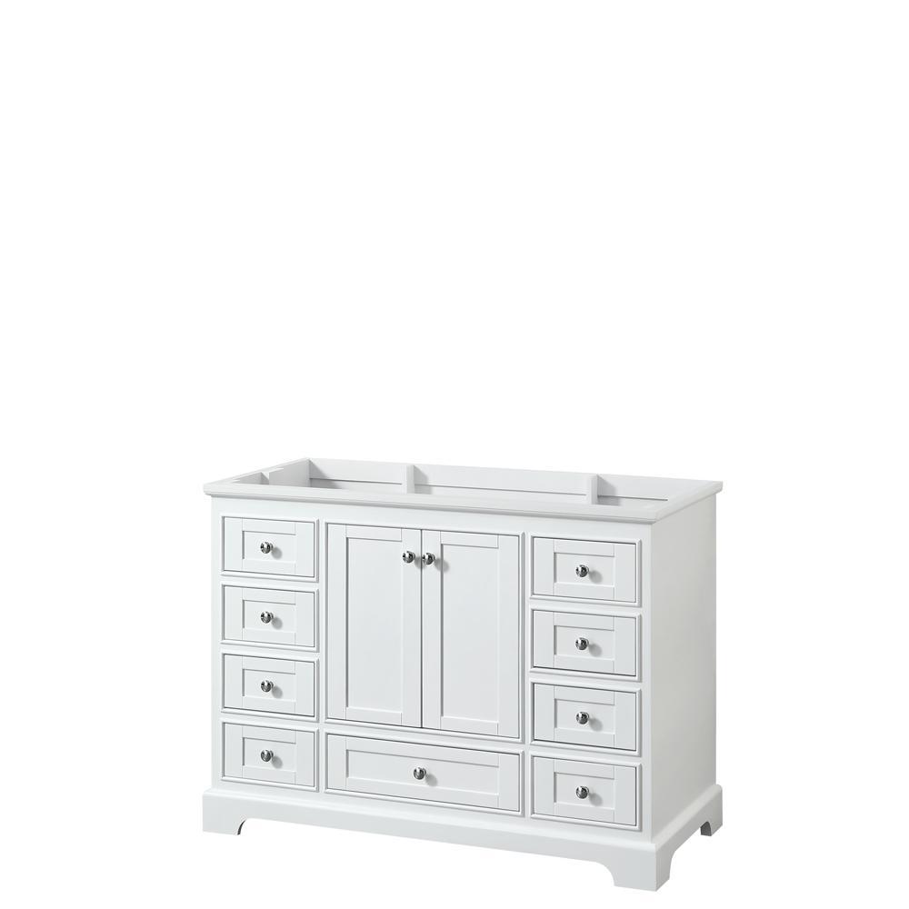 Deborah 47.25 in. W x 21.5 in. D Vanity Cabinet in White