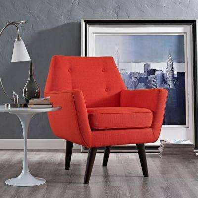 Posit Atomic Red Upholstered Armchair