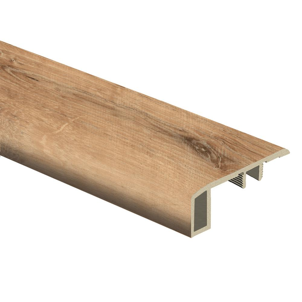 Zamma Fresh Oak/Elk Wood 7/16 in. Thick x 1-3/4 in. Wide x 72 in. Length Vinyl Carpet Reducer Molding