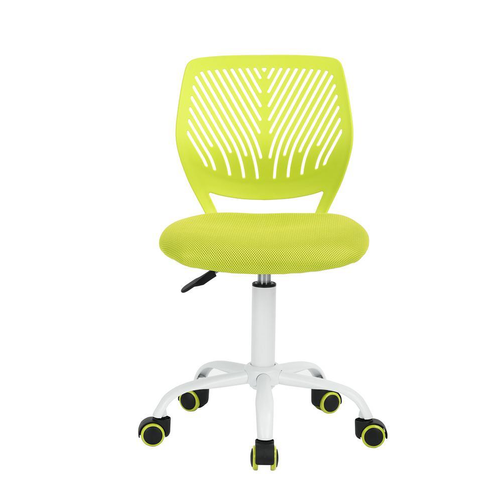 Carnation Light Green Upholstery Task Chair