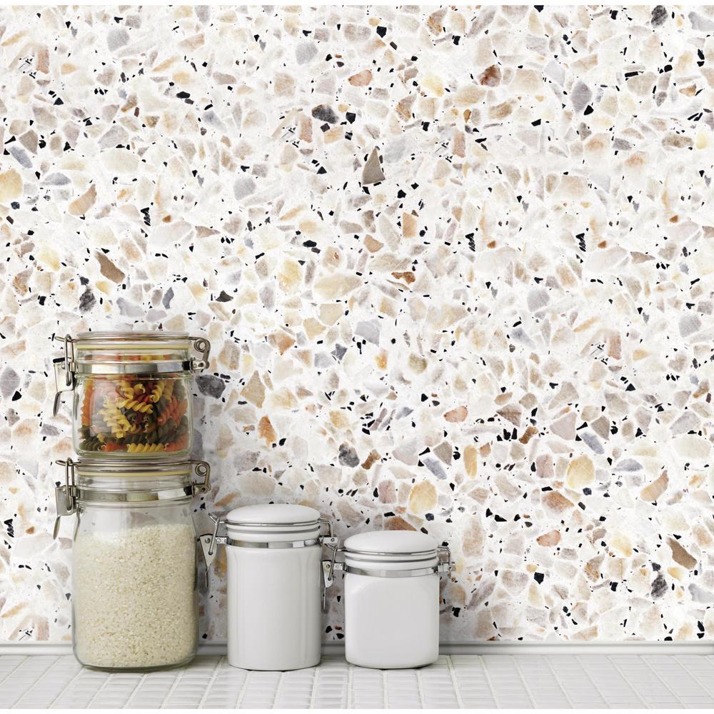 28.18 sq. ft. Terrazzo Multi Colored Peel and Stick Wallpaper