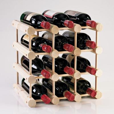 Modular 12-Bottle Wine Rack in Natural