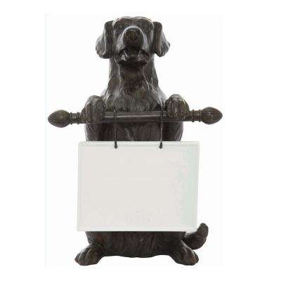 16.5 in. H x 11.5 in. W Dog Ceramic Message Board