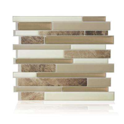 Milano Sasso 11.55 in. W x 9.65 in. H Peel and Stick Self-Adhesive Decorative Mosaic Wall Tile Backsplash (12-Pack)