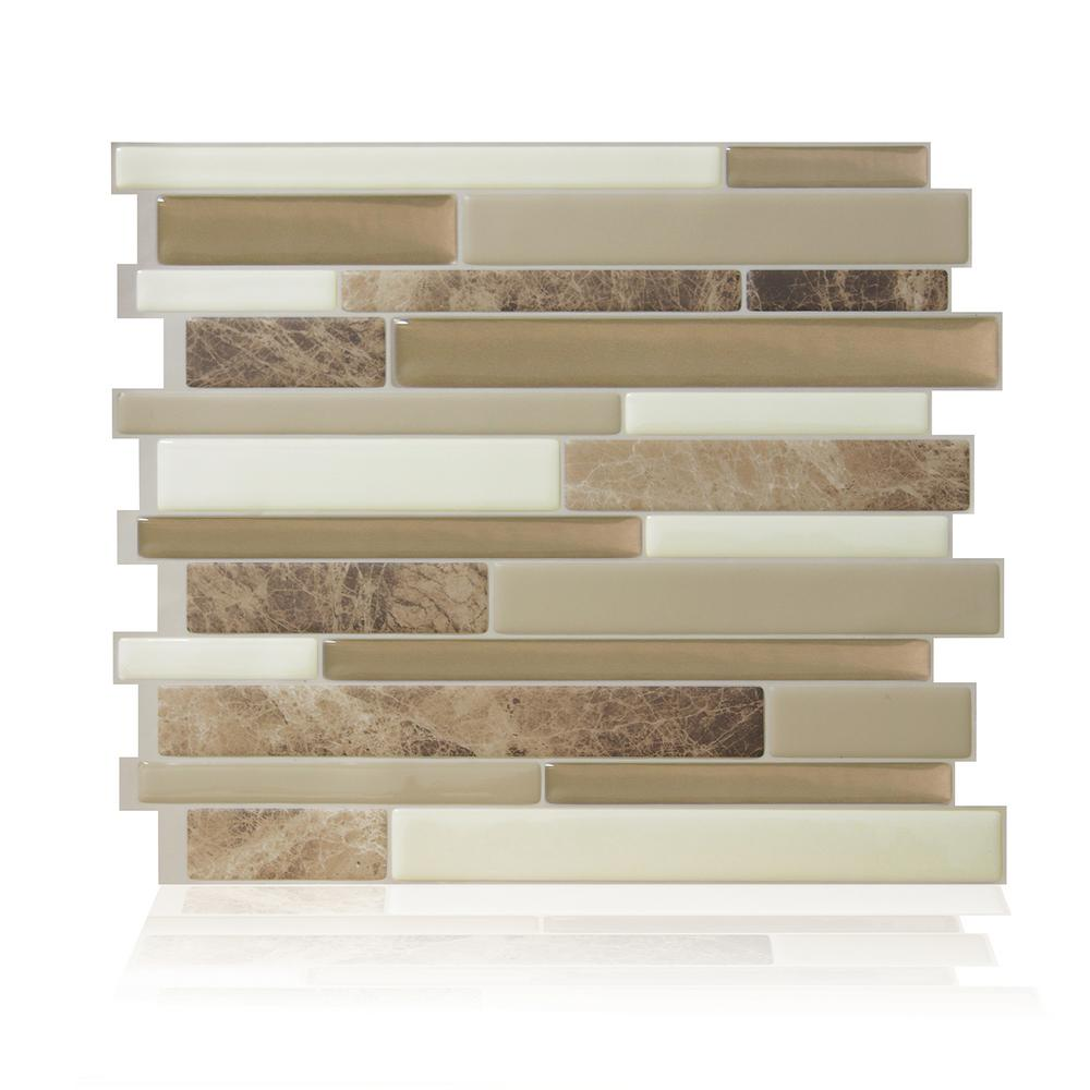 - Smart Tiles Milano Sasso 11.55 In. W X 9.65 In. H Peel And Stick