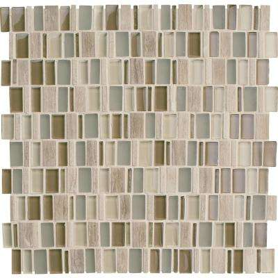 Custom Style Desert 12 in. x 12 in. x 8mm Ceramic Mosaic Wall Tile (0.96 sq. ft. / piece)